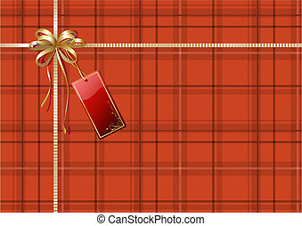 abstract background - Vector illustration of Scottish plaid...