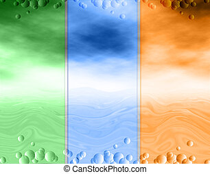 Abstract background, water and sky, drops