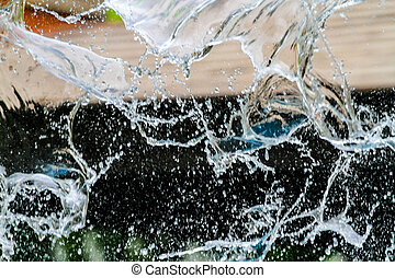abstract background water move