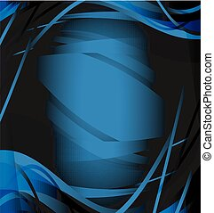 Abstract background wave dark blue