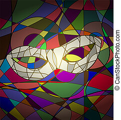 abstract background white carnival mask
