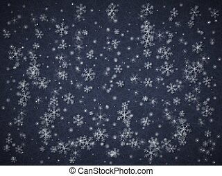Abstract background. Winter snowfall