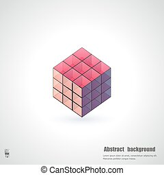 Abstract background with 3d cubes. Eps10 Vector illustration