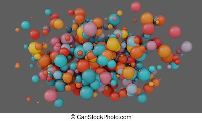 Abstract background with 3d spheres