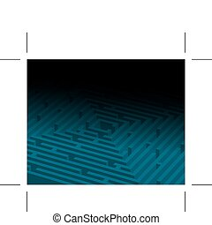 big blue maze / labyrinth - Abstract background with a big ...