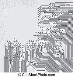 Abstract background with a circuit board texture