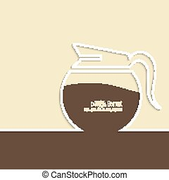 Abstract background with a coffee pot
