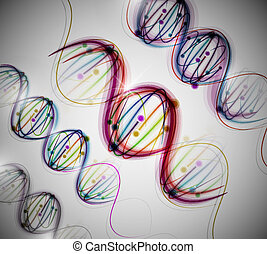 Abstract background with a colorful picture of the DNA molecule. Eps 10