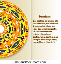 Abstract background with a design element in the Mexican style.