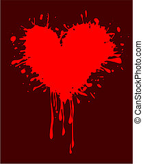 abstract background with a dirty heart