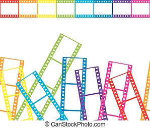 Abstract background with a film strip. Vector illustration