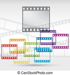 Abstract background with a film strip. Vector Eps 10.
