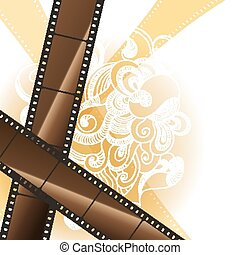 Abstract background with a film strip. Vector Eps 10