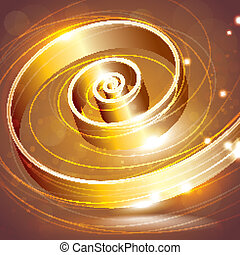 abstract background with a golden swirl