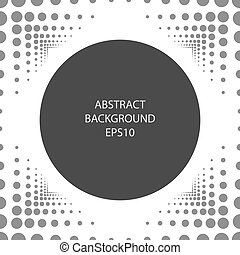 Abstract background with a round frame.