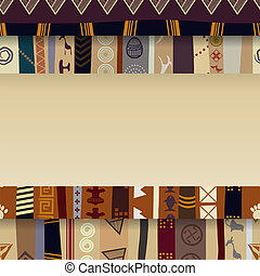 Abstract background with African ornaments