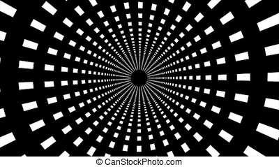Abstract background with animated circular motion. Animation...