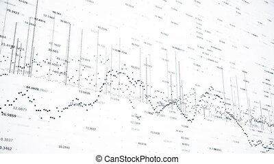 Abstract background with animation of growing charts