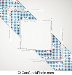 Abstract background with arrow. Pixel art. Vector