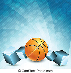 Abstract background with basketball