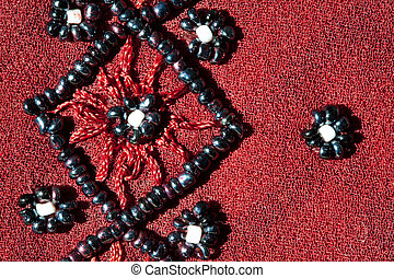 abstract background with beads
