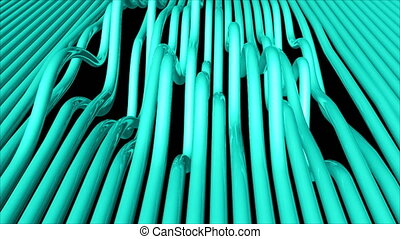 Abstract background with bend pipes. Seamless loop