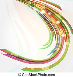 Abstract background with bent lines.
