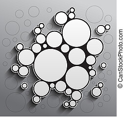 Abstract background with black and white circles