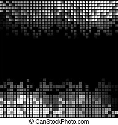 Abstract background with black and white pixels - Abstract ...