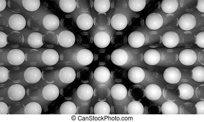 Abstract background with black and white spheres