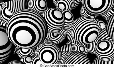 Abstract background with black and white spheres. Seamless...