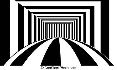 Abstract background with black and white stripes. Seamless...