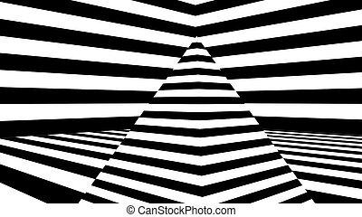 Abstract background with black and white stripes