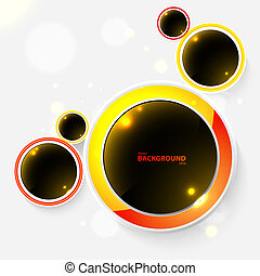 Abstract background with black bubbles. Vector illustration for your business presentation.