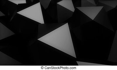 Abstract background with black Platonic.