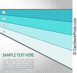 Abstract background with blue banners. Vector illustration.