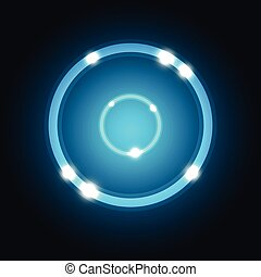 Abstract background with blue circle