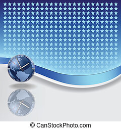 abstract background with blue clock