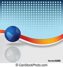 abstract background with blue globe