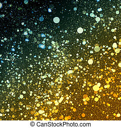 Abstract Background With Blue - Gold Particles