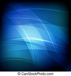 Abstract background with blue line wave