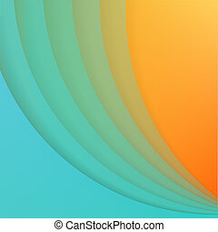 Abstract background with blue paper curves.