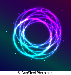 Abstract background with blue-purple shading plasma circle ...