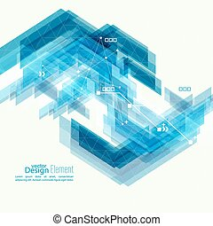 Abstract background with blue stripes corner. Concept new...