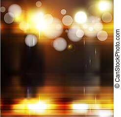 abstract background with blurred defocused lights - abstract...