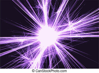 abstract background with blurred magic neon light rays.