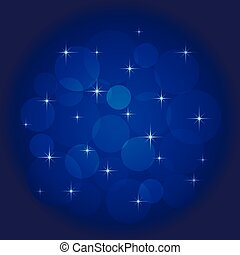Abstract background with bokeh blue