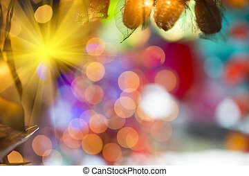 Abstract background with bokeh pattern
