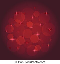 Abstract background with bokeh red