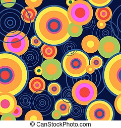 Abstract background with bright psychedelic concentric ...